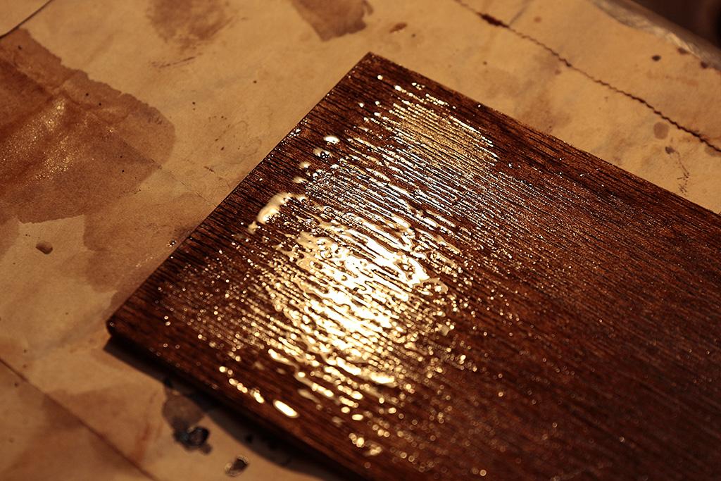 木固めを塗りすぎた例