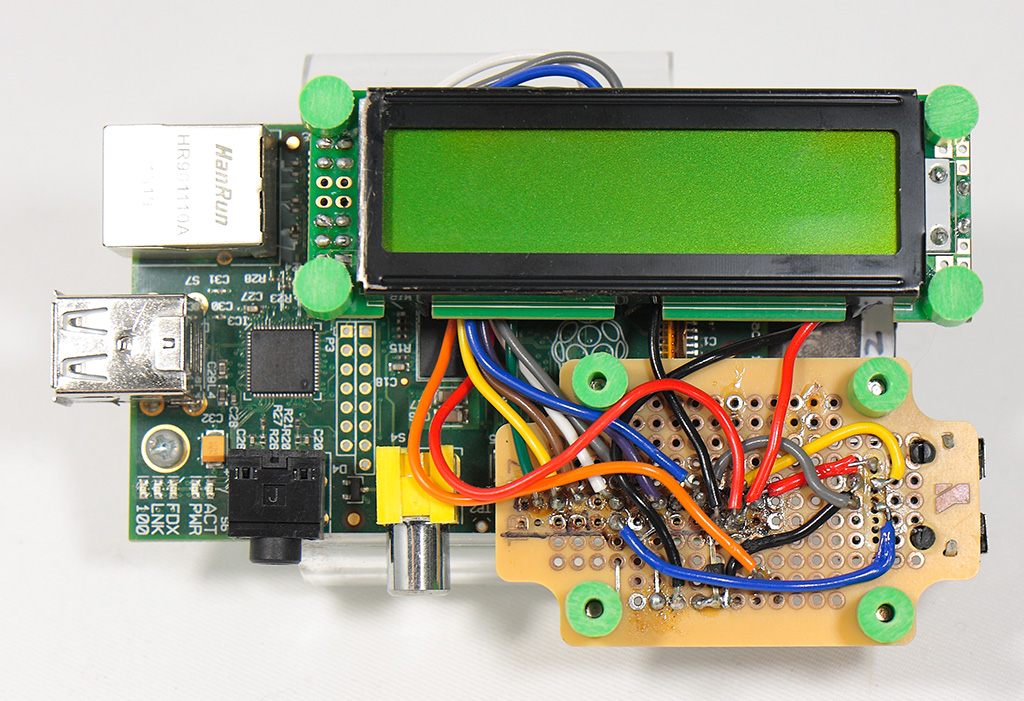 Pi and circuit with SC1602